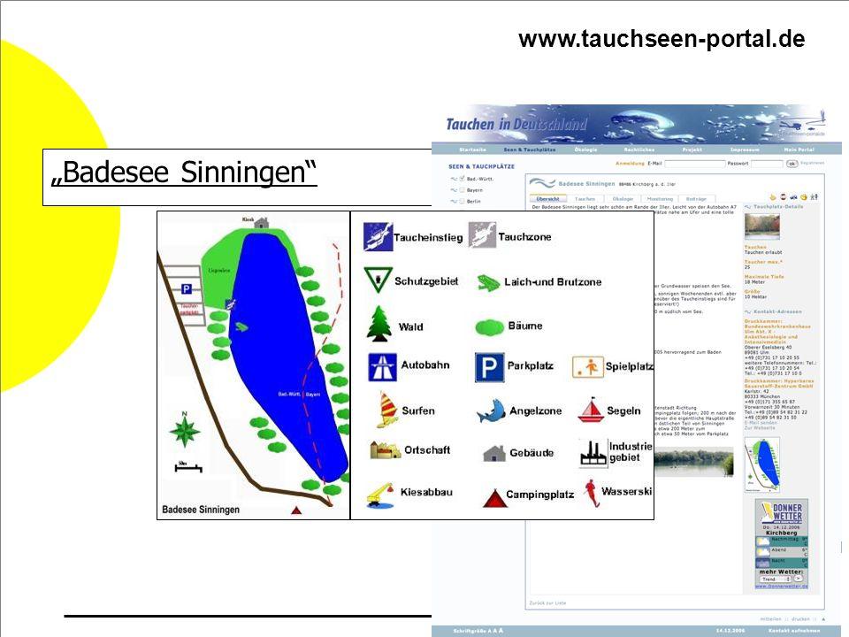 Badesee Sinningen www.tauchseen-portal.de