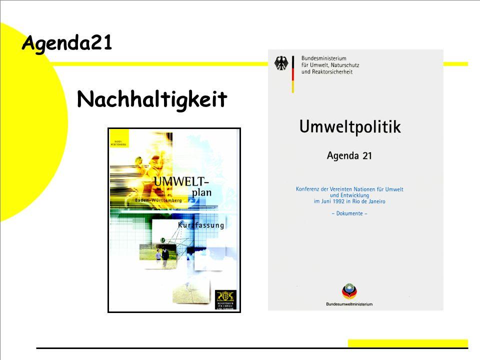 Nachhaltigkeit Agenda21
