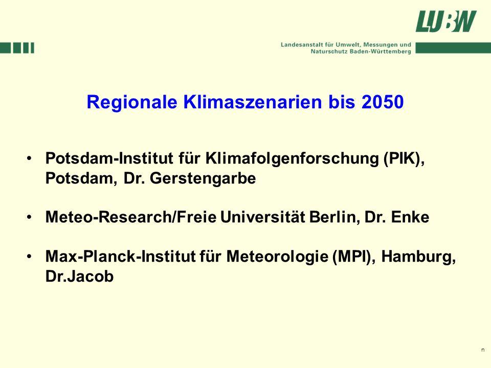 Klimawandel und Hochwasser im Südwesten Stuttgart, 08. März 2006 Potsdam-Institut für Klimafolgenforschung (PIK), Potsdam, Dr. Gerstengarbe Meteo-Rese