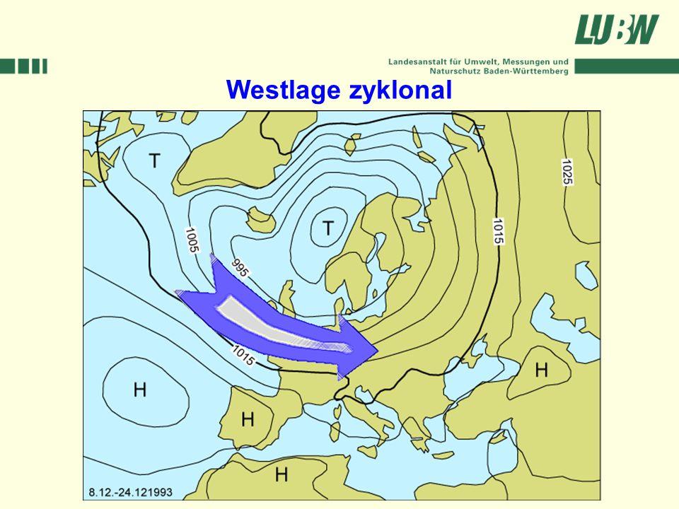 Klimawandel und Hochwasser im Südwesten Stuttgart, 08. März 2006 Westlage zyklonal