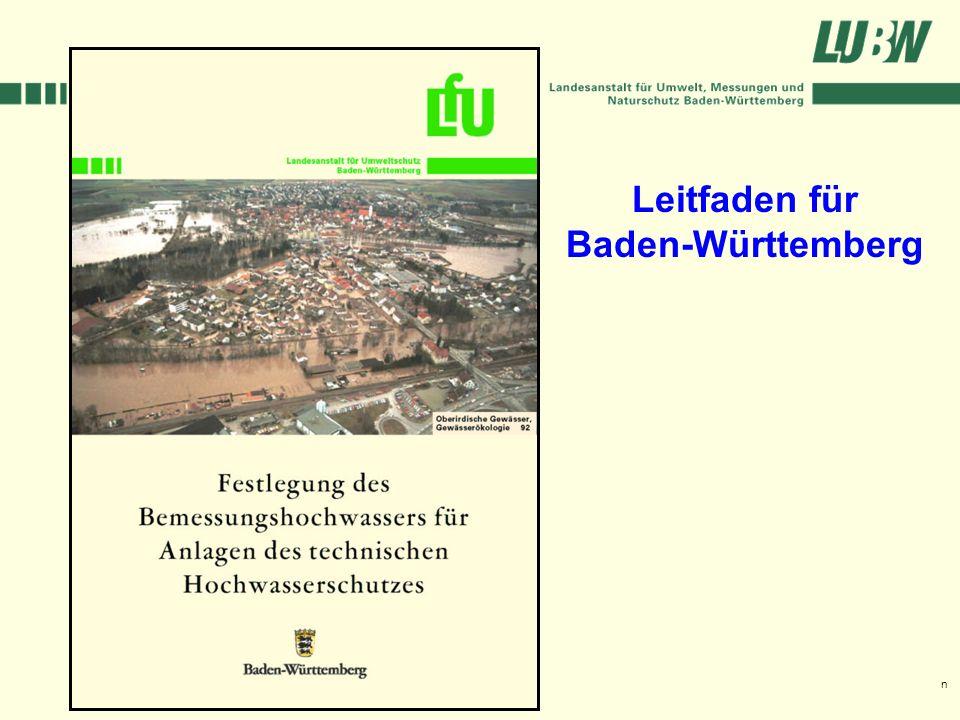 Klimawandel und Hochwasser im Südwesten Stuttgart, 08. März 2006 Leitfaden für Baden-Württemberg