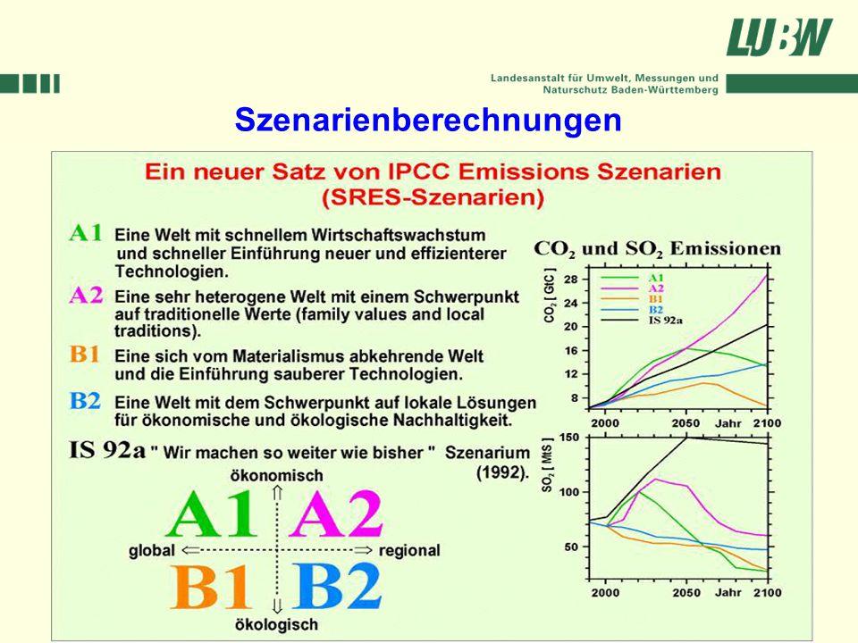 Klimawandel und Hochwasser im Südwesten Stuttgart, 08. März 2006 Szenarienberechnungen
