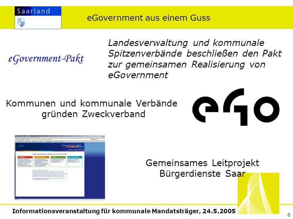 Informationsveranstaltung für kommunale Mandatsträger, 24.5.2005 7 Wie geht es weiter.