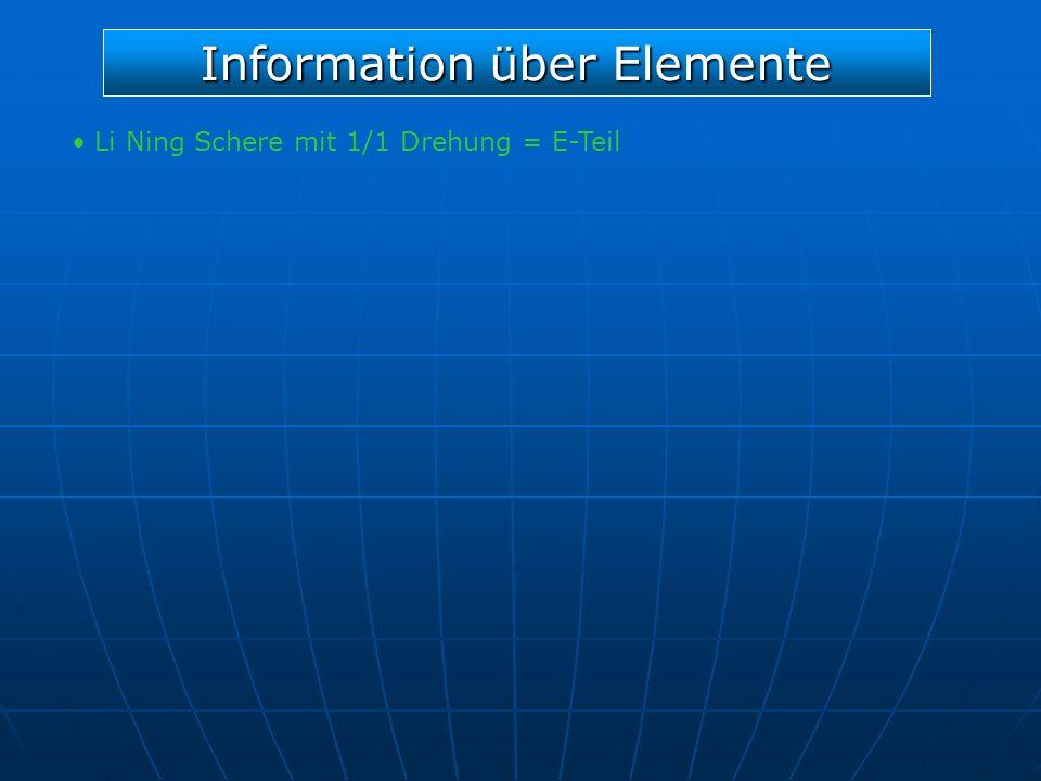 Information über Elemente Li Ning Schere mit 1/1 Drehung = E-Teil