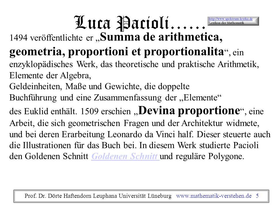 1494 veröffentlichte er Summa de arithmetica, geometria, proportioni et proportionalita, ein enzyklopädisches Werk, das theoretische und praktische Ar