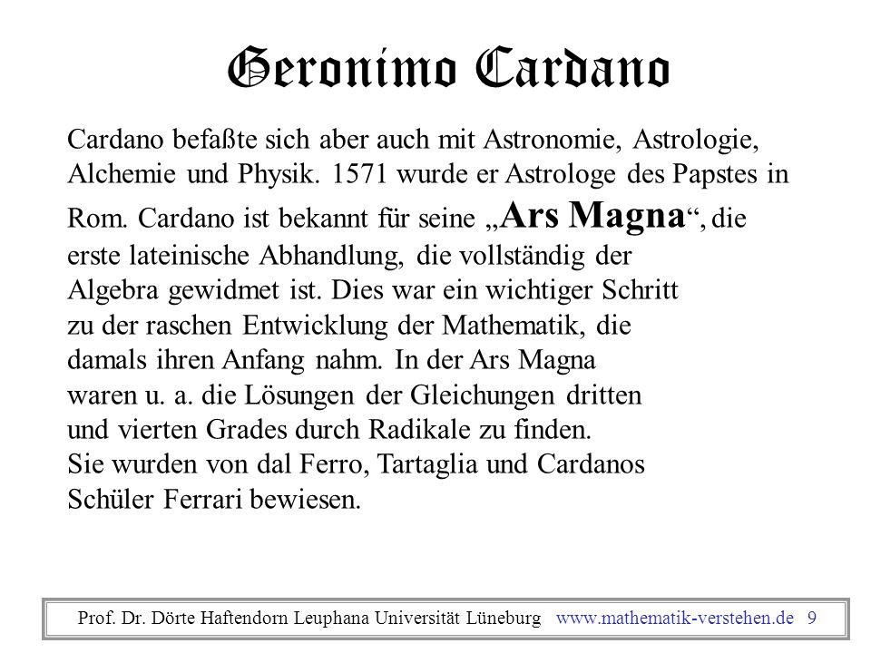 Geronimo Cardano Cardano befaßte sich aber auch mit Astronomie, Astrologie, Alchemie und Physik. 1571 wurde er Astrologe des Papstes in Rom. Cardano i