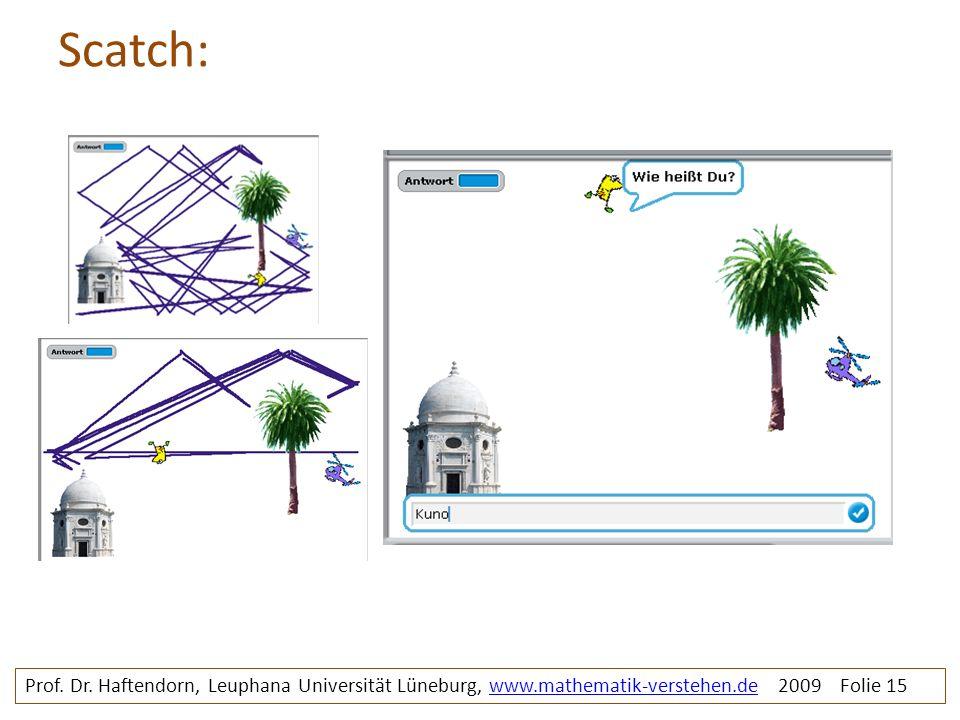 Scatch: Prof. Dr. Haftendorn, Leuphana Universität Lüneburg, www.mathematik-verstehen.de 2009 Folie 15www.mathematik-verstehen.de