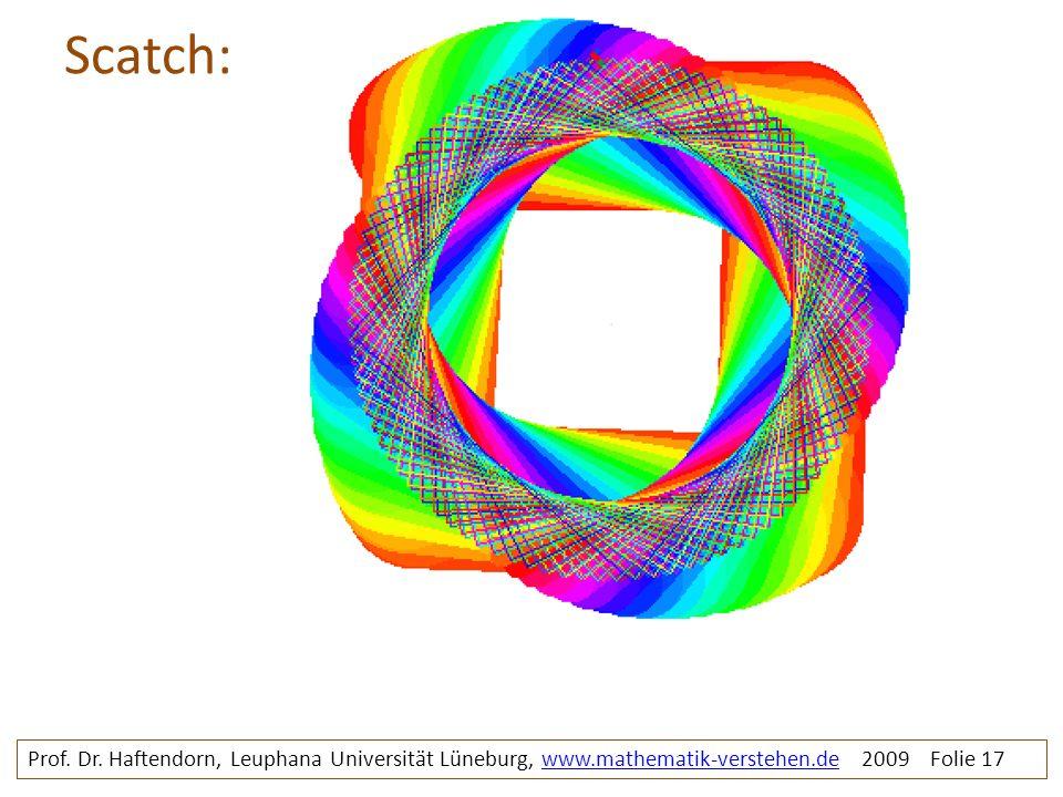 Scatch: Prof. Dr. Haftendorn, Leuphana Universität Lüneburg, www.mathematik-verstehen.de 2009 Folie 17www.mathematik-verstehen.de