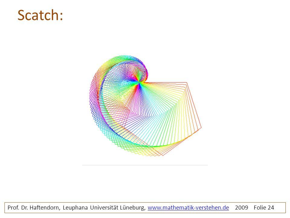 Scatch: Prof. Dr. Haftendorn, Leuphana Universität Lüneburg, www.mathematik-verstehen.de 2009 Folie 24www.mathematik-verstehen.de
