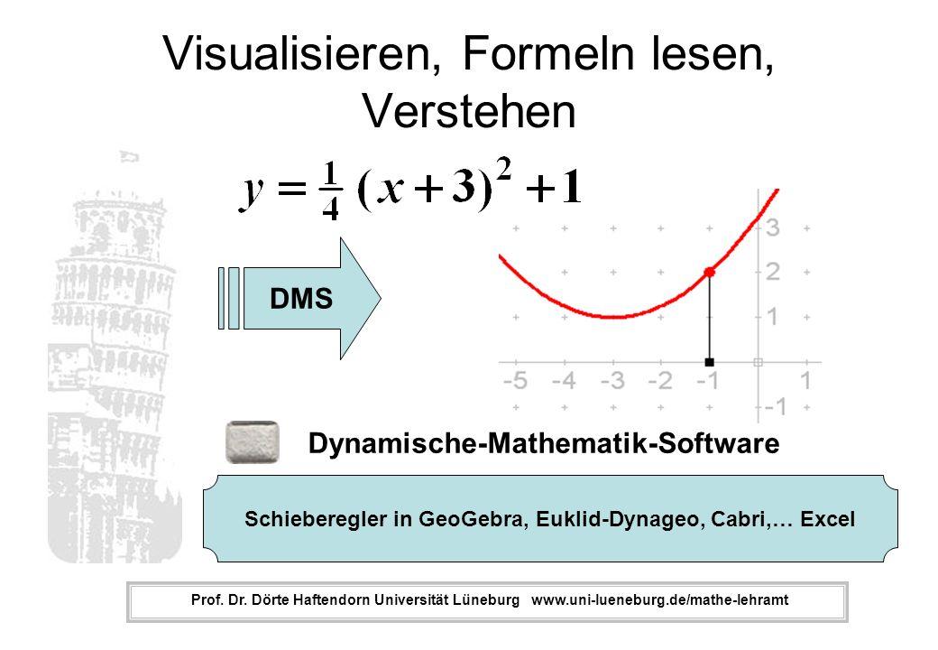 Visualisieren, Formeln lesen, Verstehen Prof.Dr.