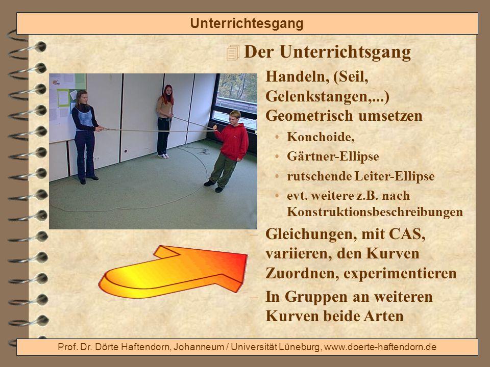 Prof. Dr. Dörte Haftendorn, Johanneum / Universität Lüneburg, www.doerte-haftendorn.de Unterrichtesgang 4 Der Unterrichtsgang –Handeln, (Seil, Gelenks