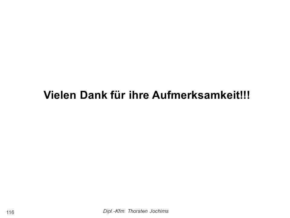 Dipl.-Kfm. Thorsten Jochims 116 Vielen Dank für ihre Aufmerksamkeit!!!