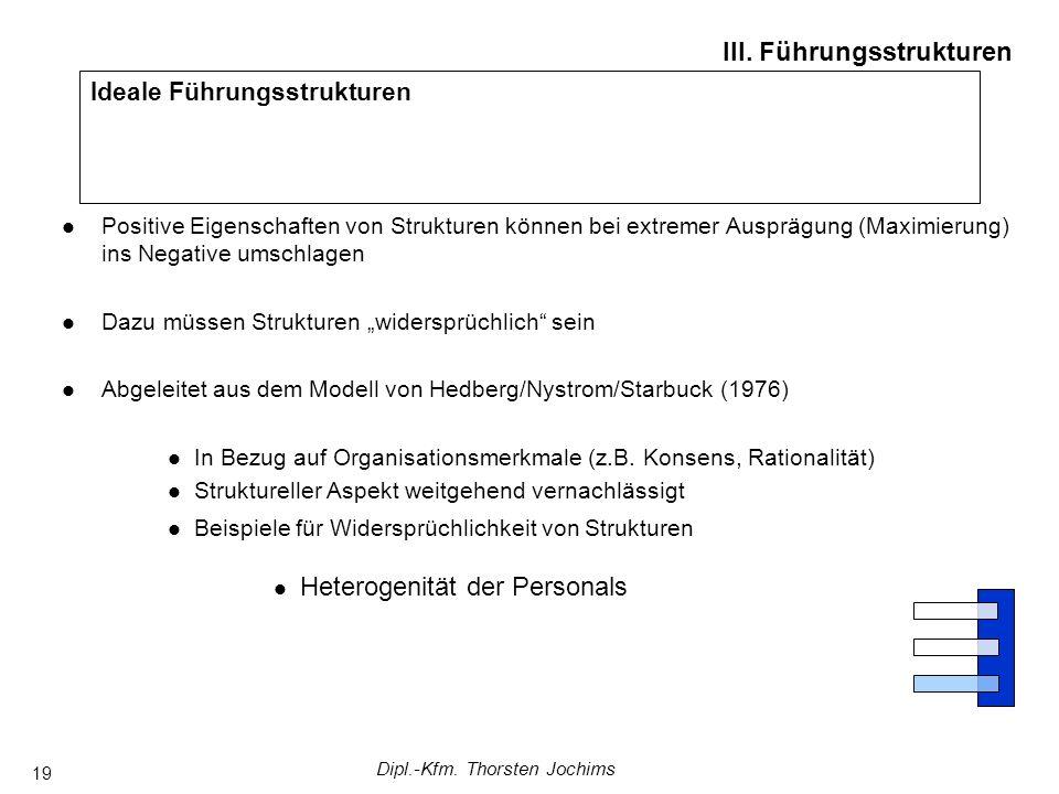 Dipl.-Kfm. Thorsten Jochims 19 Ideale Führungsstrukturen III.