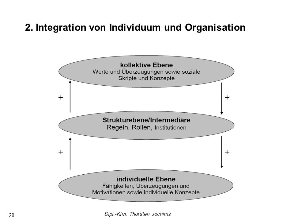 Dipl.-Kfm. Thorsten Jochims 28 2. Integration von Individuum und Organisation