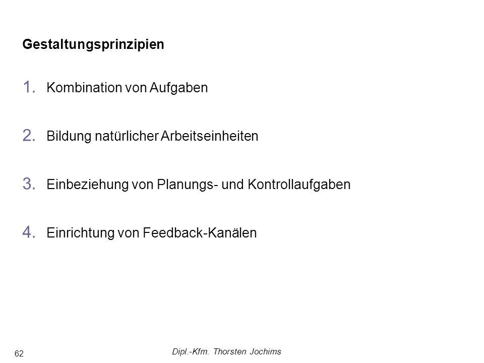 Dipl.-Kfm. Thorsten Jochims 62 Gestaltungsprinzipien 1.