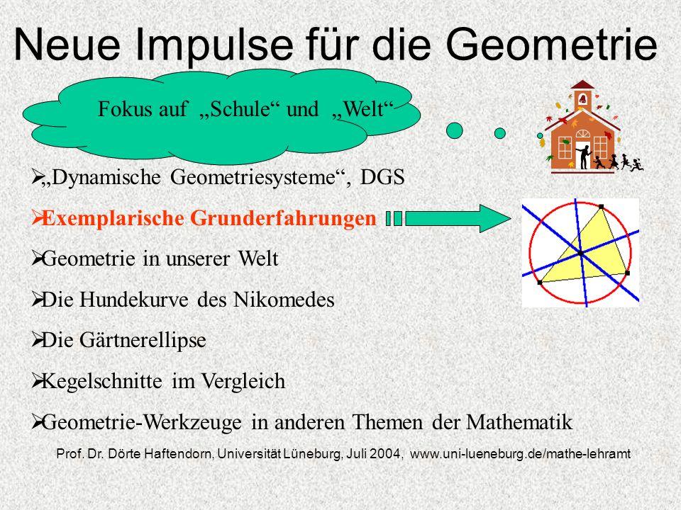 Neue Impulse für die Geometrie Fokus auf Schule und Welt Prof.