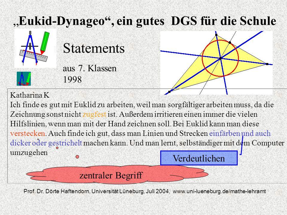 Eukid-Dynageo, ein gutes DGS für die Schule Prof.Dr.