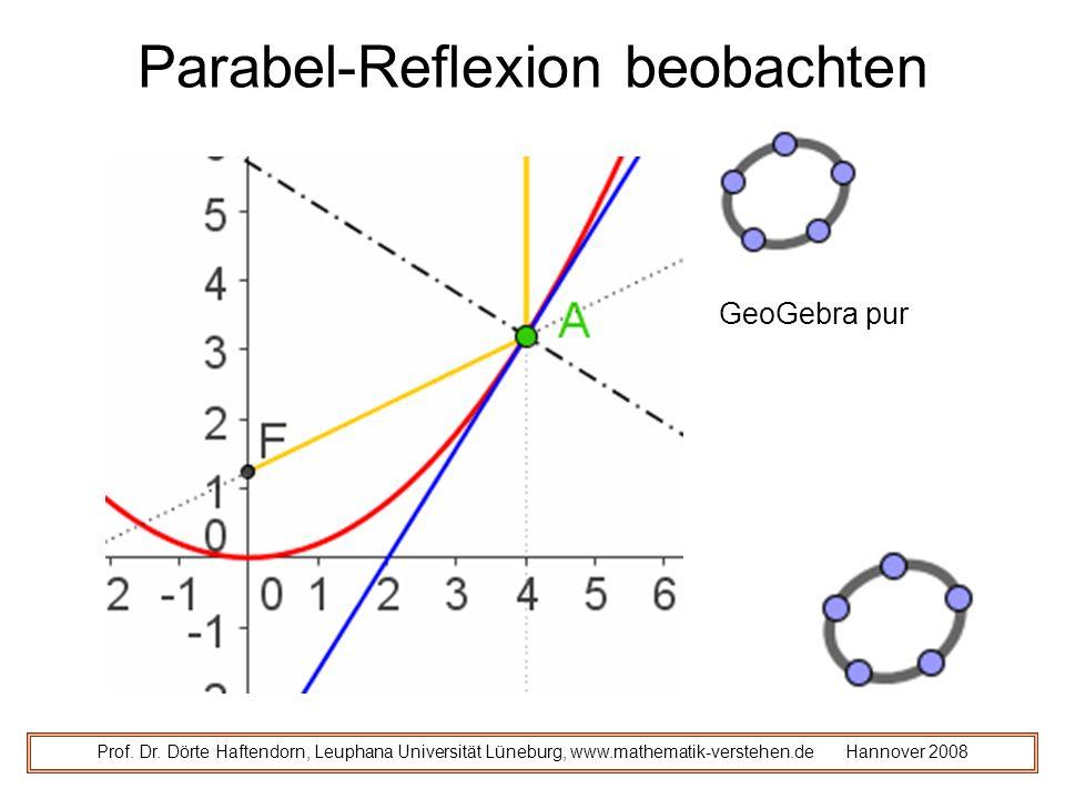 Parabel-Reflexion beobachten Prof.Dr.