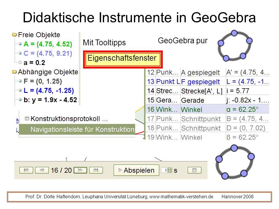Didaktische Instrumente in GeoGebra Prof.Dr.