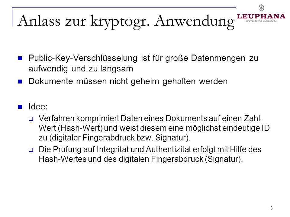 19 Anforderungen an kryptogr.