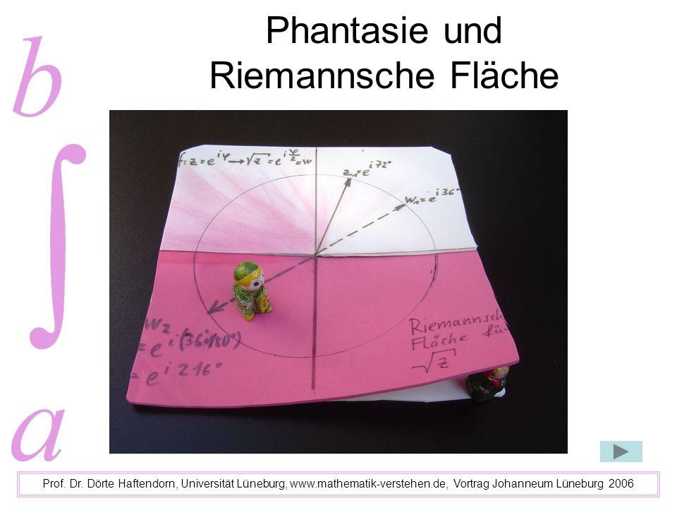 Phantasie und Riemannsche Fläche Prof. Dr. Dörte Haftendorn, Universität Lüneburg, www.mathematik-verstehen.de, Vortrag Johanneum Lüneburg 2006