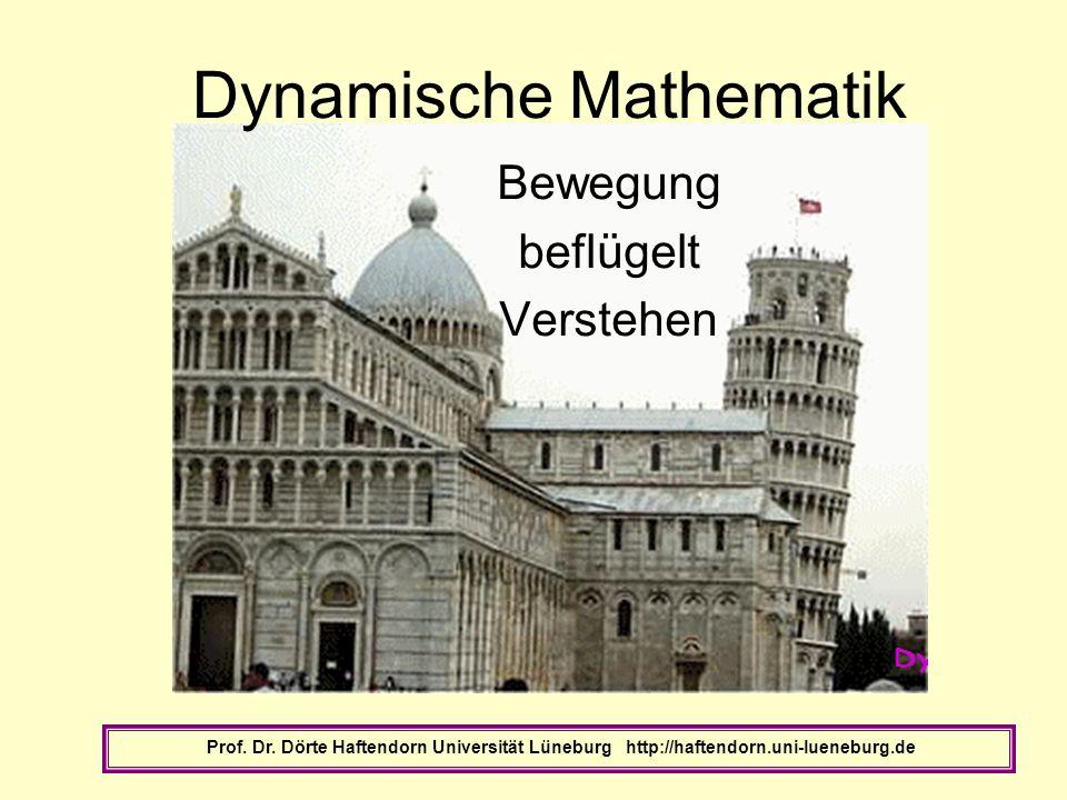 Dynamische Mathematik Bewegung beflügelt Verstehen Prof. Dr. Dörte Haftendorn Universität Lüneburg http://haftendorn.uni-lueneburg.de