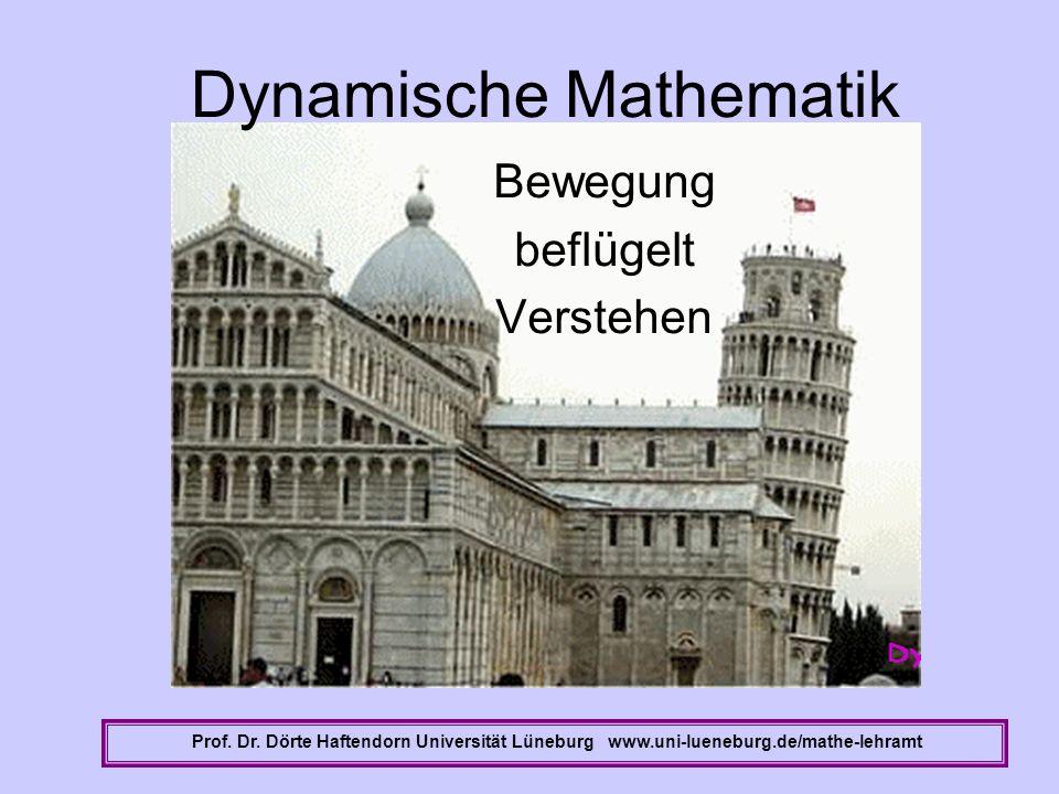 Dynamische Mathematik Bewegung beflügelt Verstehen Prof. Dr. Dörte Haftendorn Universität Lüneburg www.uni-lueneburg.de/mathe-lehramt