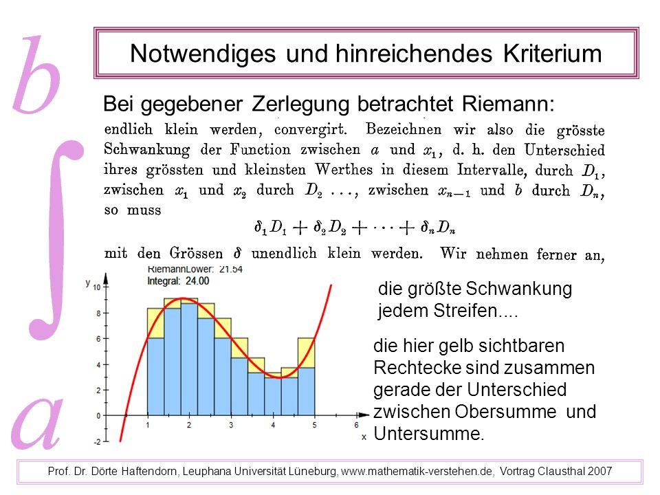 Notwendiges und hinreichendes Kriterium Prof. Dr. Dörte Haftendorn, Leuphana Universität Lüneburg, www.mathematik-verstehen.de, Vortrag Clausthal 2007