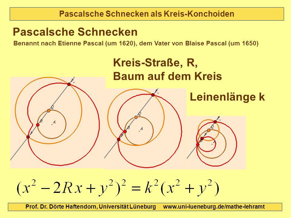 Pascalsche Schnecken als Kreis-Konchoiden Pascalsche Schnecken Kreis-Straße, R, Baum auf dem Kreis Benannt nach Etienne Pascal (um 1620), dem Vater vo