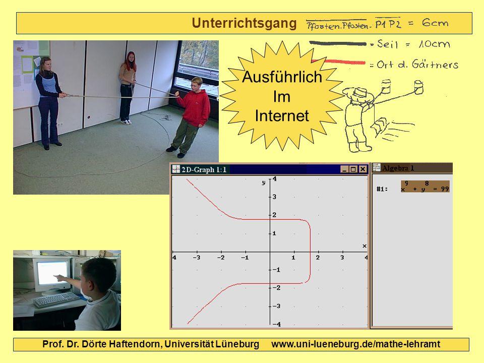 Unterrichtsgang Prof. Dr. Dörte Haftendorn, Universität Lüneburg www.uni-lueneburg.de/mathe-lehramt Ausführlich Im Internet