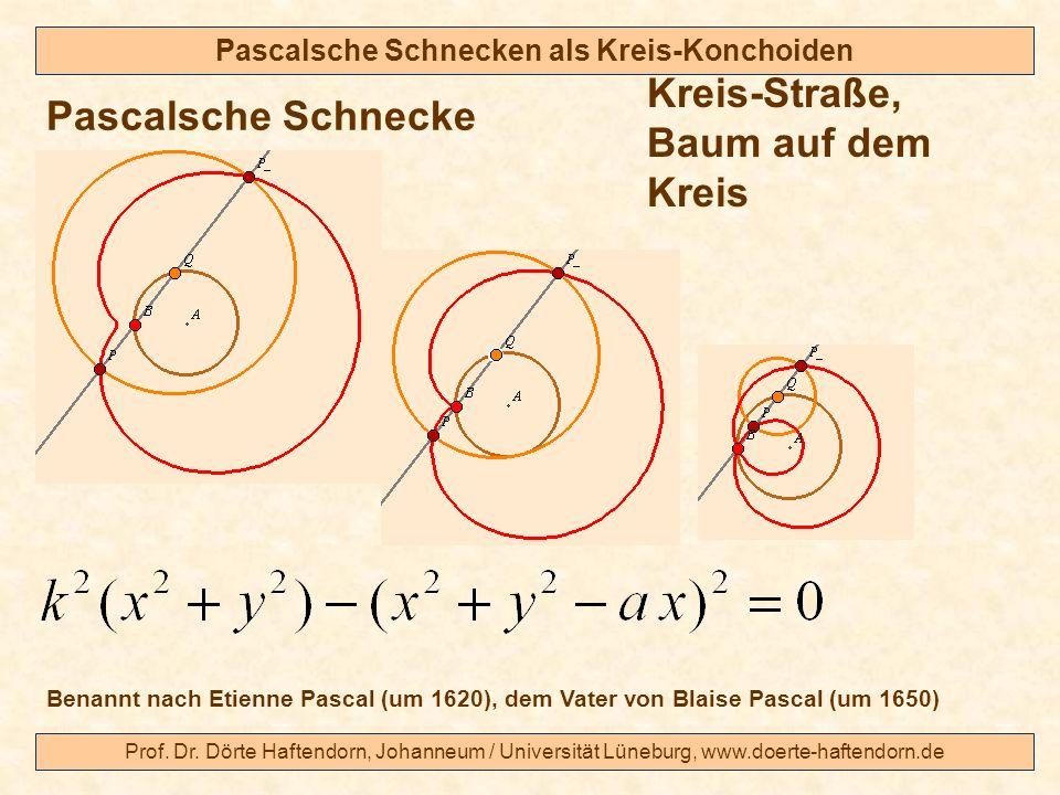 Prof. Dr. Dörte Haftendorn, Johanneum / Universität Lüneburg, www.doerte-haftendorn.de Pascalsche Schnecken als Kreis-Konchoiden Pascalsche Schnecke K