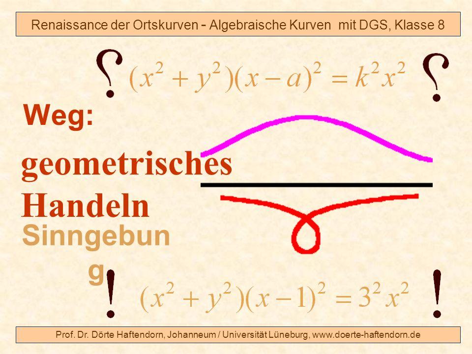 Prof. Dr. Dörte Haftendorn, Johanneum / Universität Lüneburg, www.doerte-haftendorn.de Renaissance der Ortskurven - Algebraische Kurven mit DGS, Klass