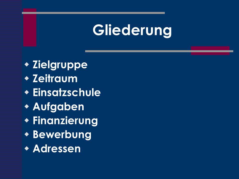 Zielgruppe Lehramtsstudenten mit Fach Englisch vorzugsweise Studenten mit den Fächern Englisch und Deutsch im Schwerpunkt HRS ASP und Zwischenprüfung abgeschlossen