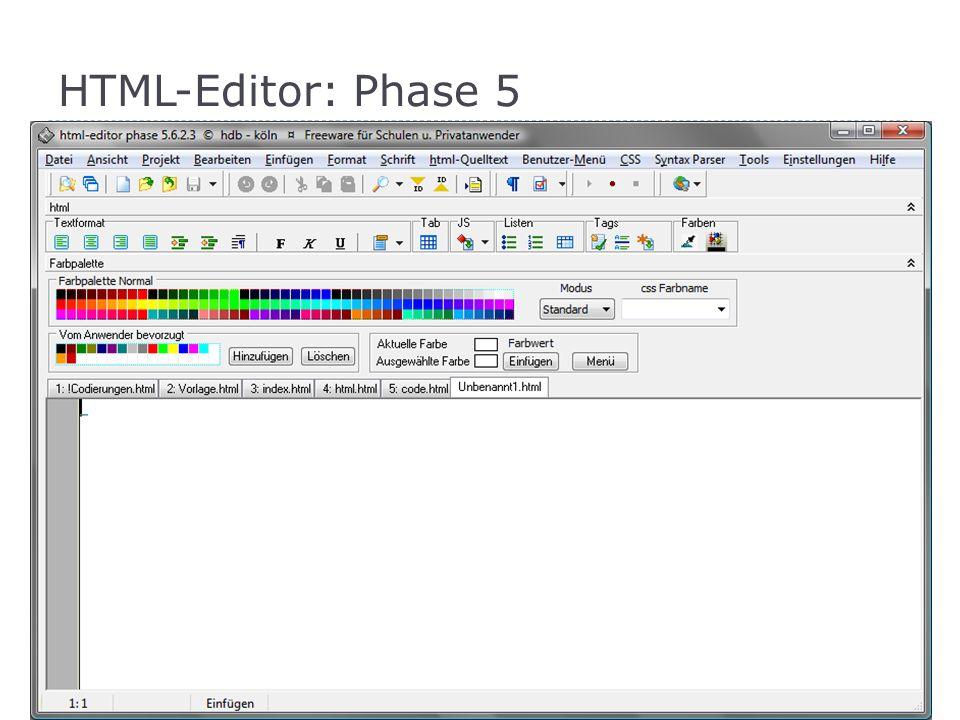 Grundgerüst einer HTML-Seite |