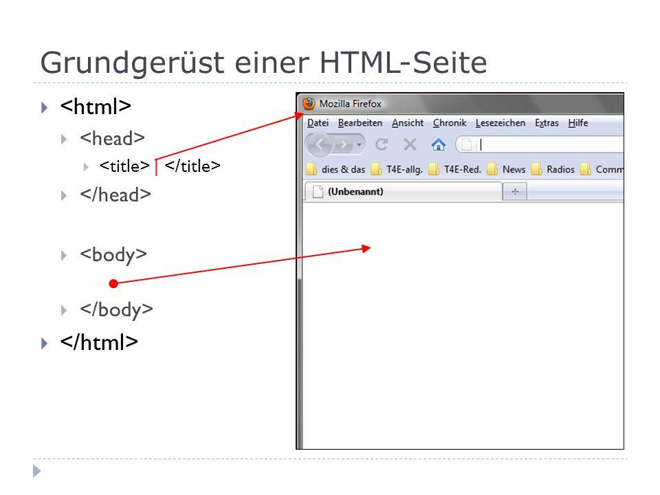 Einfache Codierungen Eingabe Anzeige HTML ist ganz einfach .
