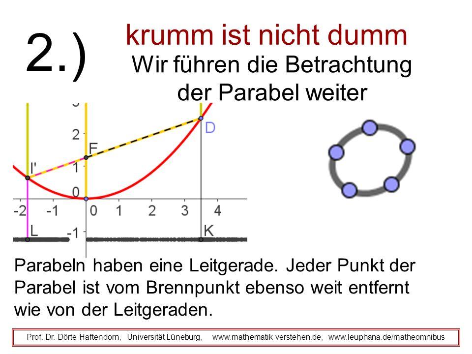 krumm ist nicht dumm Prof. Dr. Dörte Haftendorn, Universität Lüneburg, www.mathematik-verstehen.de, www.leuphana.de/matheomnibus 2.) Wir führen die Be