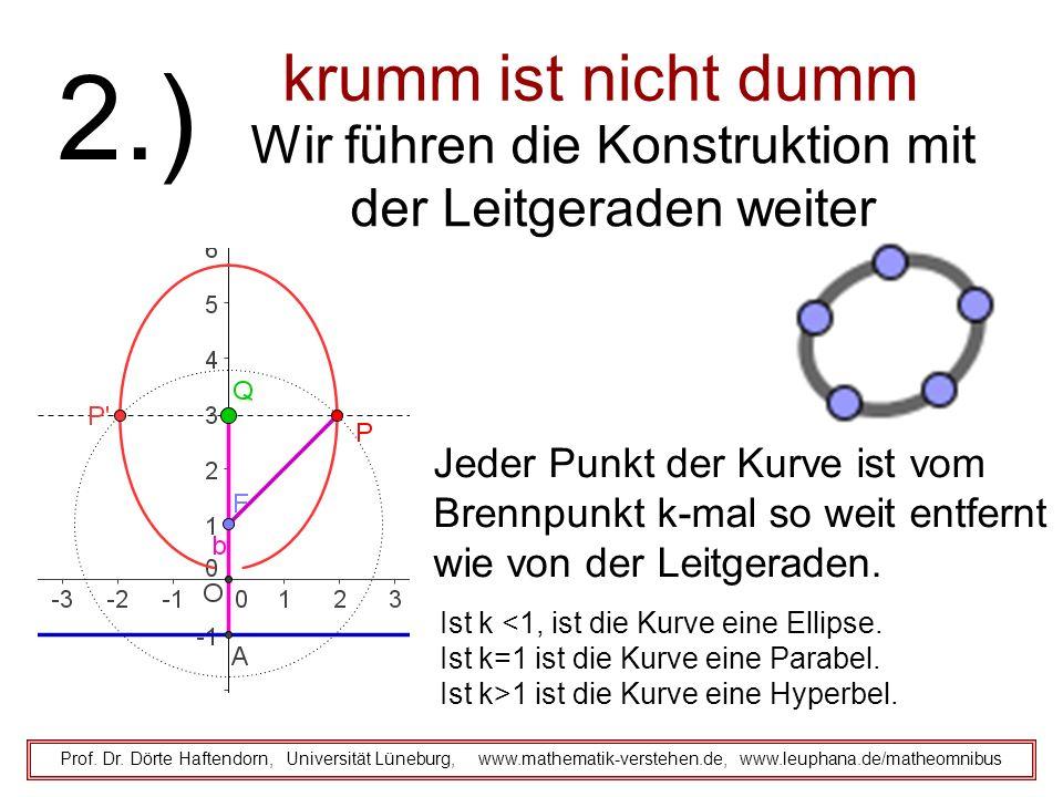 krumm ist nicht dumm Prof. Dr. Dörte Haftendorn, Universität Lüneburg, www.mathematik-verstehen.de, www.leuphana.de/matheomnibus 2.) Wir führen die Ko