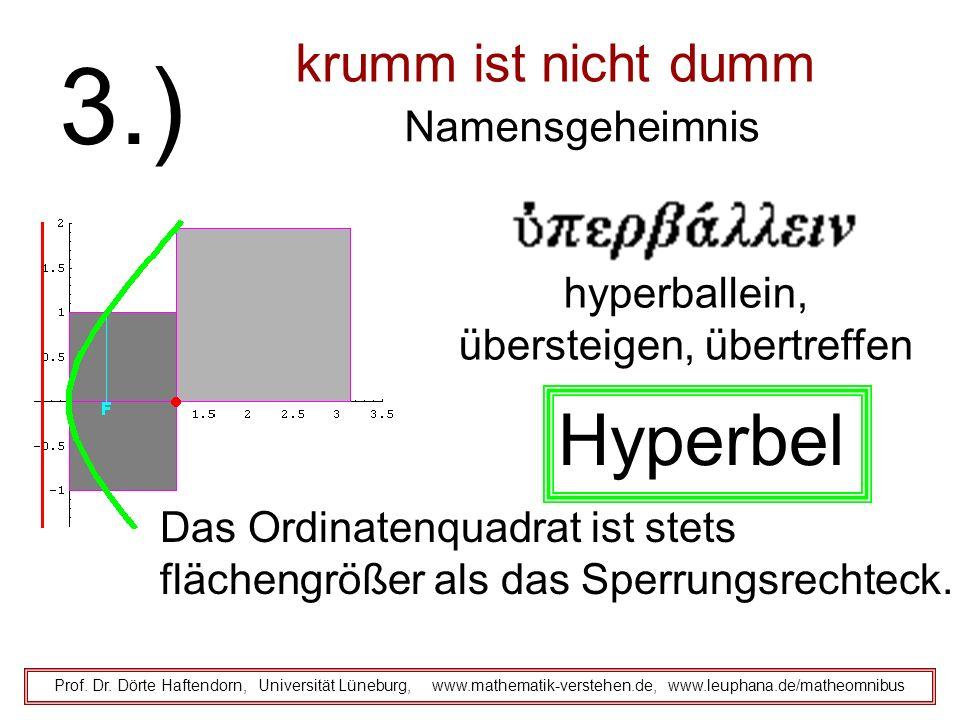krumm ist nicht dumm Namensgeheimnis Prof. Dr. Dörte Haftendorn, Universität Lüneburg, www.mathematik-verstehen.de, www.leuphana.de/matheomnibus 3.) D