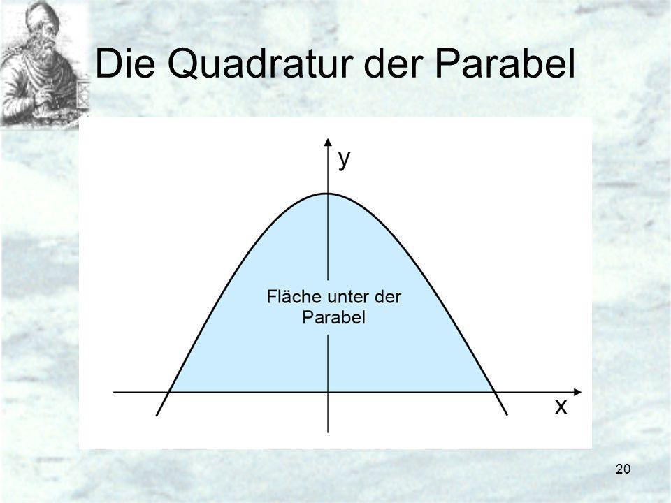 20 Die Quadratur der Parabel