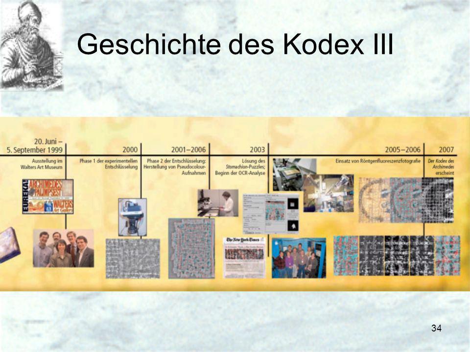 34 Geschichte des Kodex III
