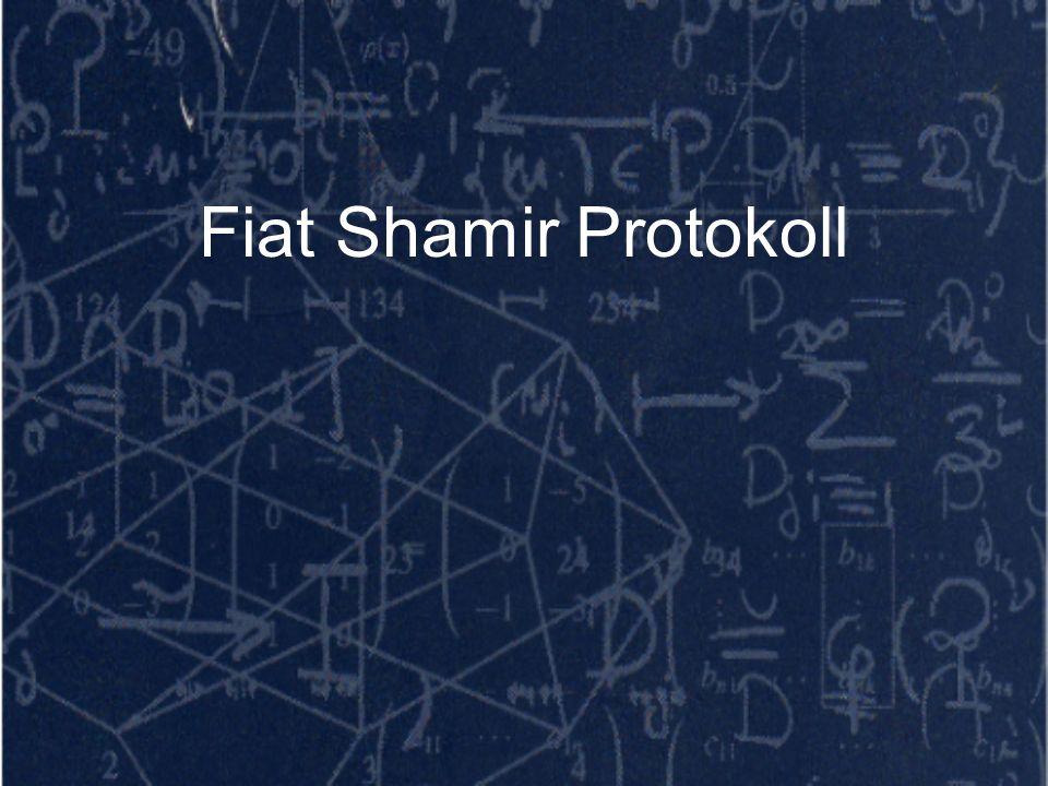 Fiat Shamir Protokoll