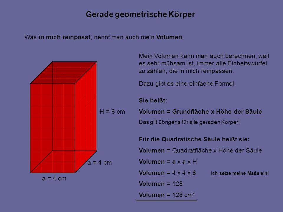 Hallo, ich bin auch eine quadratische Säule.