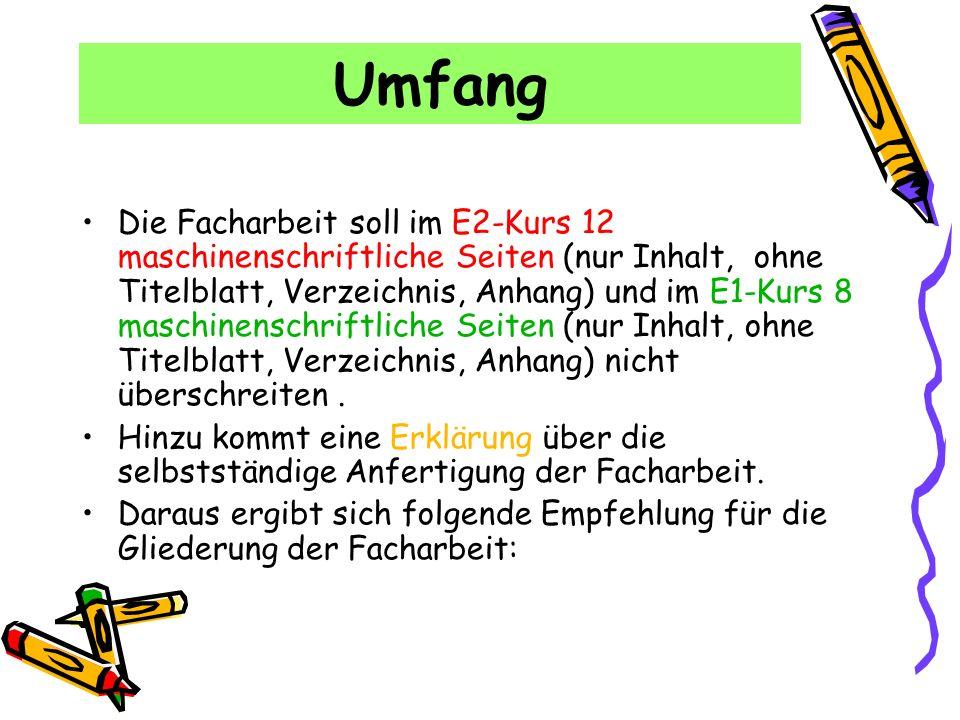Titelblatt Laufzettel Inhaltsverzeichnis (alle ohne Nummerierung!!!) 1.