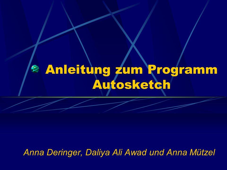 Anleitung zum Programm Autosketch Anna Deringer, Daliya Ali Awad und Anna Mützel