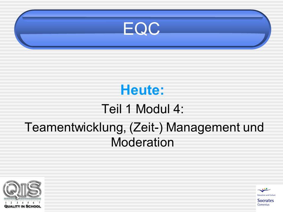 EQC Heute: Teil 1 Modul 4: Teamentwicklung, (Zeit-) Management und Moderation