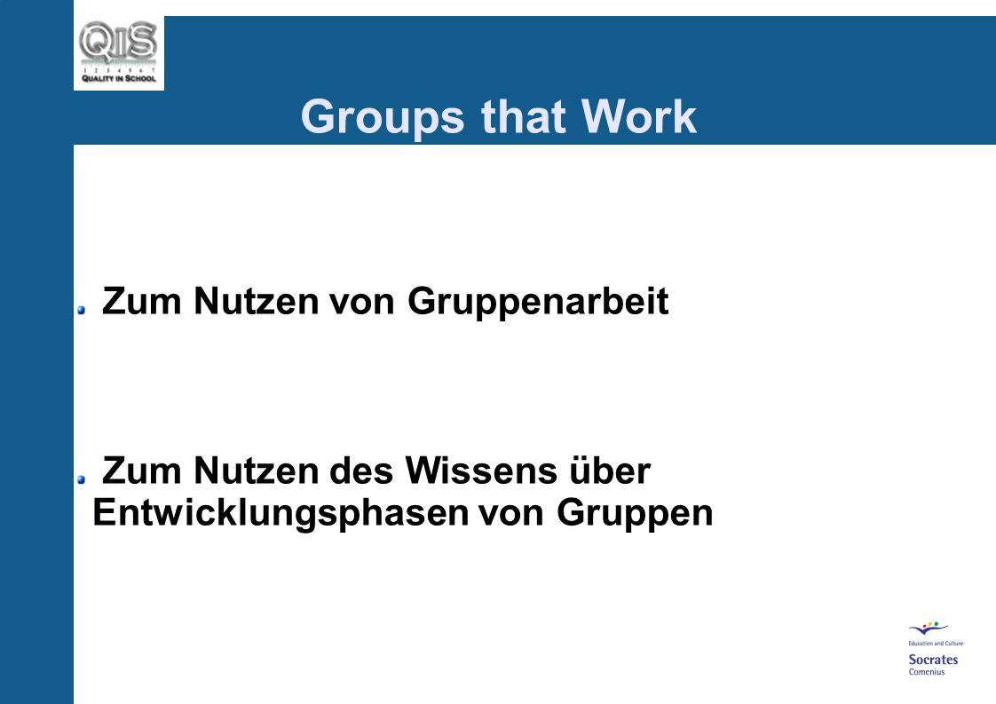 Groups that Work Übung: Rollen im Gruppenfeld