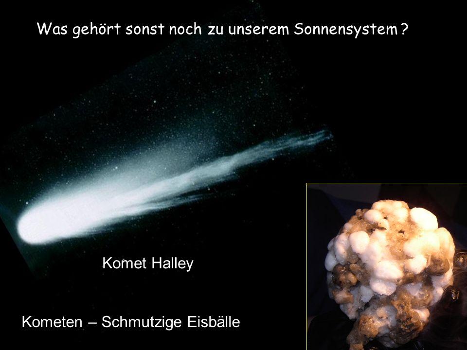 Komet Halley Was gehört sonst noch zu unserem Sonnensystem ?. Kometen – Schmutzige Eisbälle
