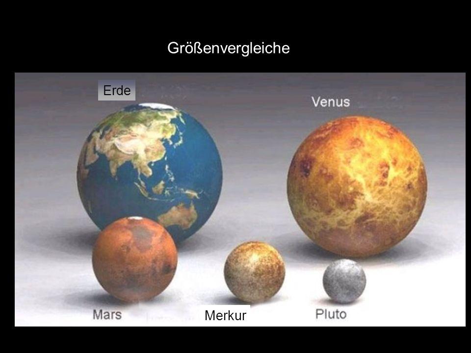 Größenvergleiche Erde Merkur