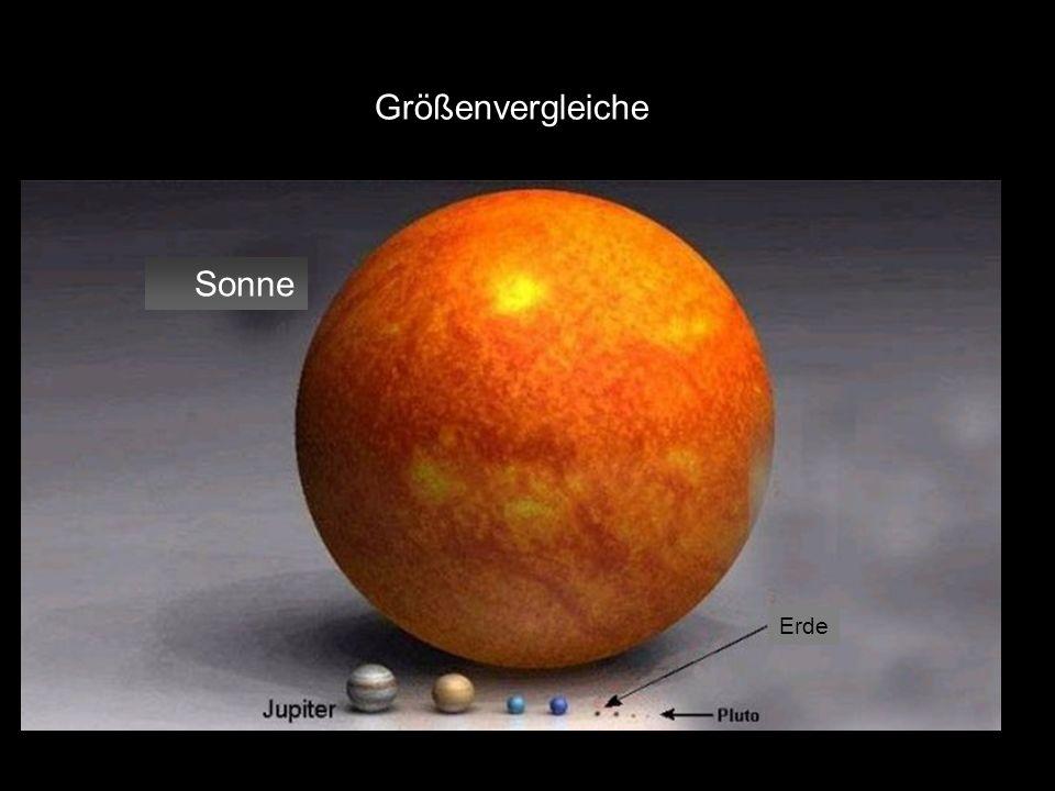 Größenvergleiche Sonne Erde