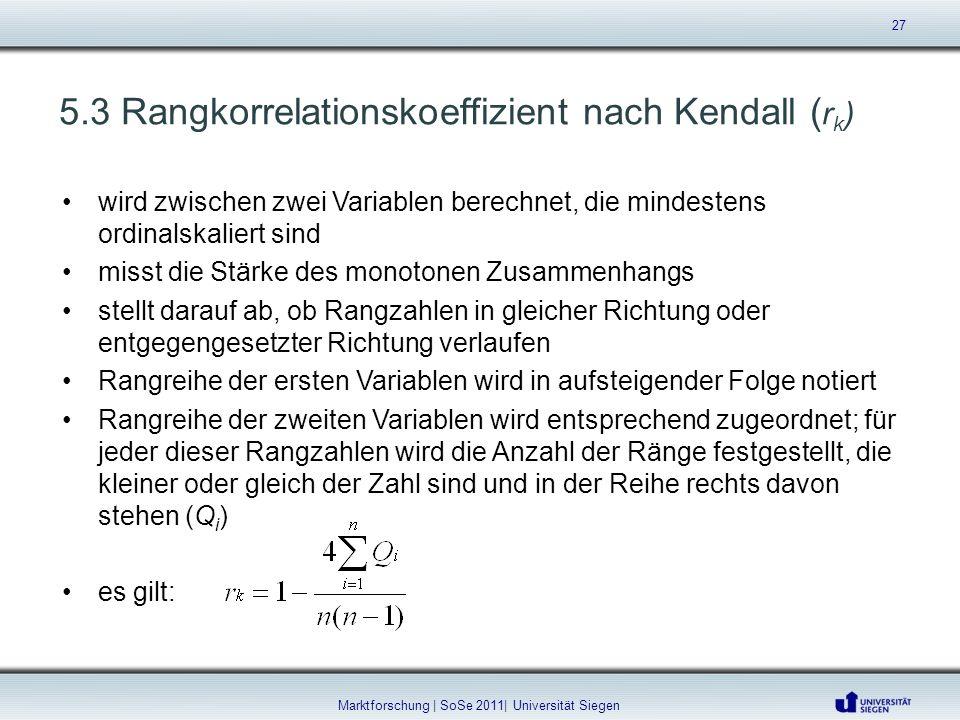 wird zwischen zwei Variablen berechnet, die mindestens ordinalskaliert sind misst die Stärke des monotonen Zusammenhangs stellt darauf ab, ob Rangzahl